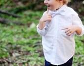 Sale--READY TO SHIP--White Satin Bow Tie..1-4 years..dressbabybeautiful