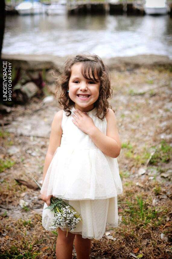 Double Ruffle Tulle Twirl Dress in Ivory.. 3m, 6m, 12m, 24m, 2t, 3t, 4t..dressbabybeautiful