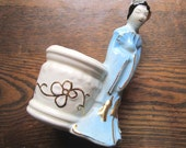Vintage Pottery Planter Geisha Girl
