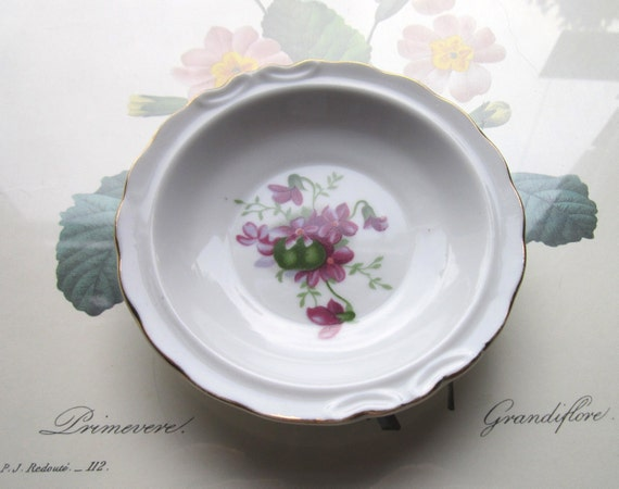 On Reserve Small Hand Painted Violet Bowl