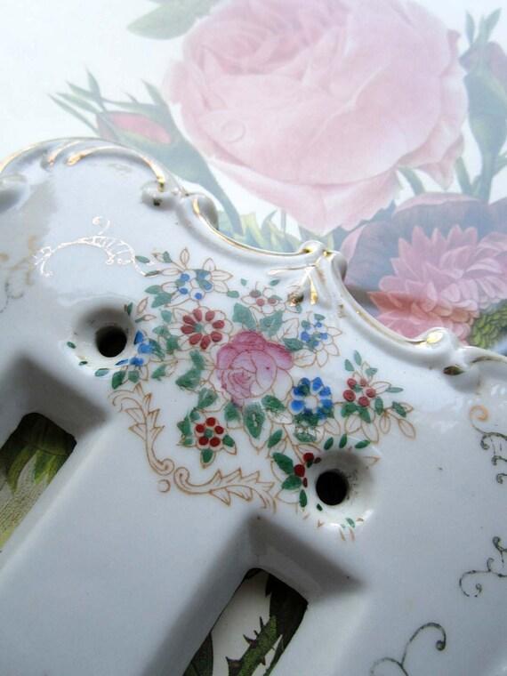 Vintage Porcelain Light Switch Plate