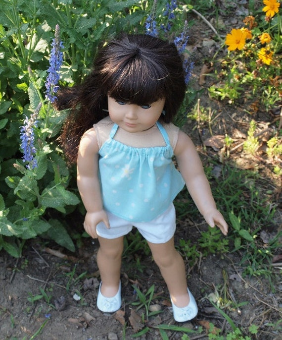 18 inch Doll Clothes American Girl Dolls Clothes  - Shorts Outfit  - Shorts -  Halter Top