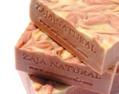Padparadscha Stone Handmade Cold Processed Soap by ZAJA Natural