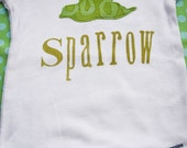 Short Sleeved Sparrow Bodysuit - 18 Months - 100% Cotton - Green