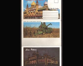 Corn Palace Mitchell South Dakota Souvenir Scenic  Postcard folder Vintage 1950s
