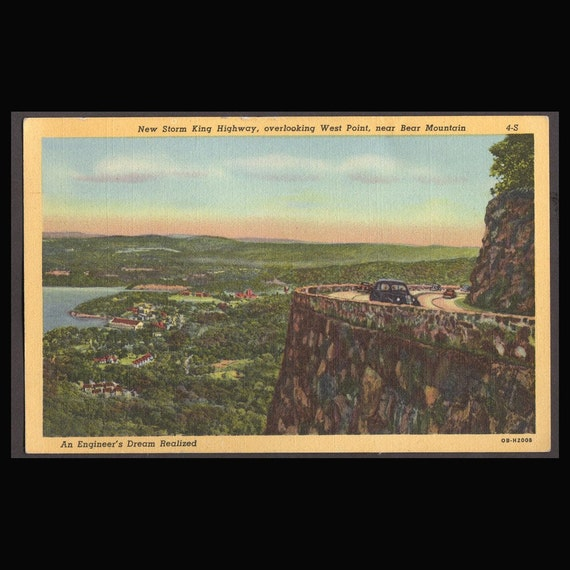 2 Vintage   Post Cards of Bear Mountain  West Point and U.S. Naval Arsenal. 1940's
