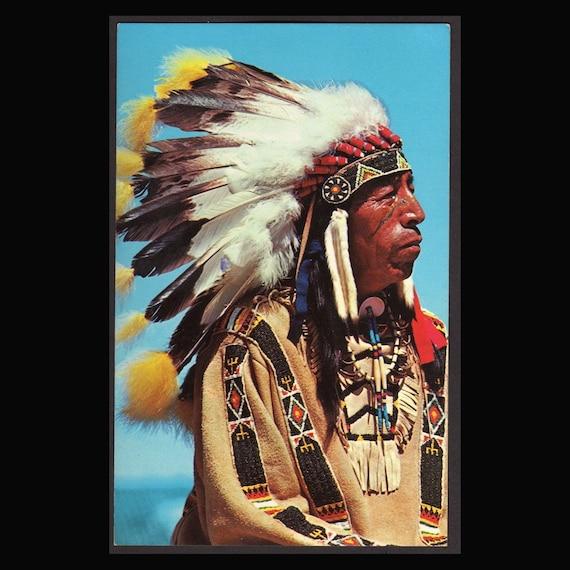 2 Vintage Western photographic  Postcards   Black Elk and Greetings from Nebraska