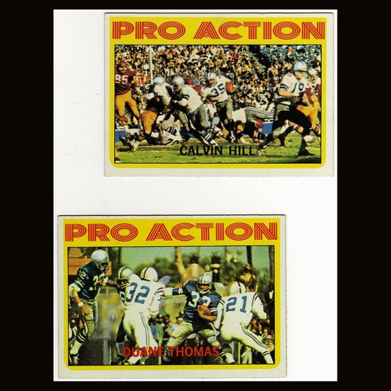 1972 Topps Football Pro Action Cards Staubach Farr Thomas Hill and Landry Vintage