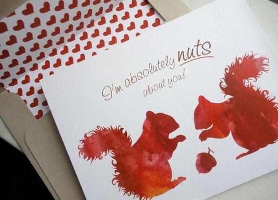 My Squirrely Valentine Card