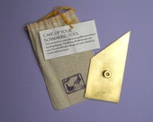 Brass Nevada modified triangle for bookbinding and boxmaking LEFT HANDED