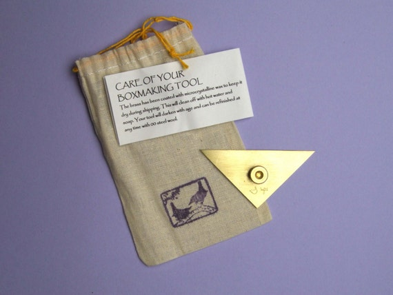 smallest brass triangle for miniature books and boxes