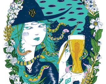 Witch's Brew screenprint