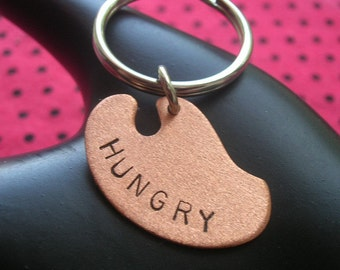 Starving Artist, Hungry, Hangry, Painter Palette, Copper Keychain, Stamped Keychain, Metal Keychain, Painter, Musician, Dancer, Writer