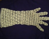 Crocheted 1930s gloves (will supply pattern)