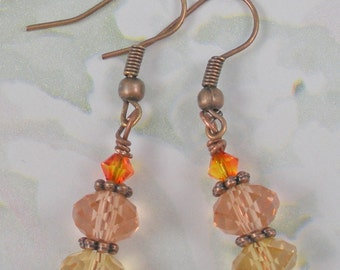 Fall Colors Triple Drop earrings good for Thanksgiving too