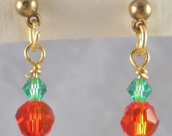 Tiny Pumpkin Earrings for your Ears on posts