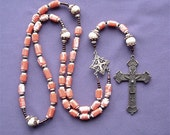 Victorian Coral Heirloom Rosary Necklace for Protection from Evil and Illness Plus it is Just Simply Gorgeous