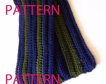 Easy Striped Scarf Crochet Pattern