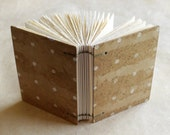 Polka Dot Book Covered in Relief Printed Handmade Abaca & Daylily Paper - The Chloe