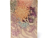 Leather iPhone (All) iTouch (All) case - Tiger in bloom design