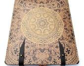 iPad case  Leather (1 and 2 )  - Elegant antique Lace design