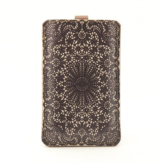 Leather iPhone/iTouch/HTC (Desire/Mozart) Case - Lace