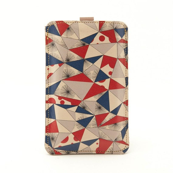 Leather iPhone/iTouch/HTC (Desire/Mozart) Case - Scandinavian style.