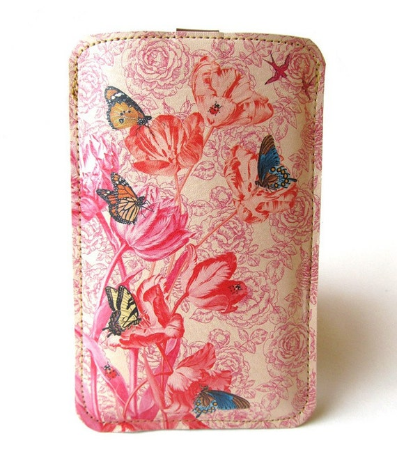 Special edition Leather iPhone/iTouch/HTC (Desire/Mozart) Case - Spring time design