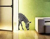 Zebra  30 H x 21 L vinyl wall decal