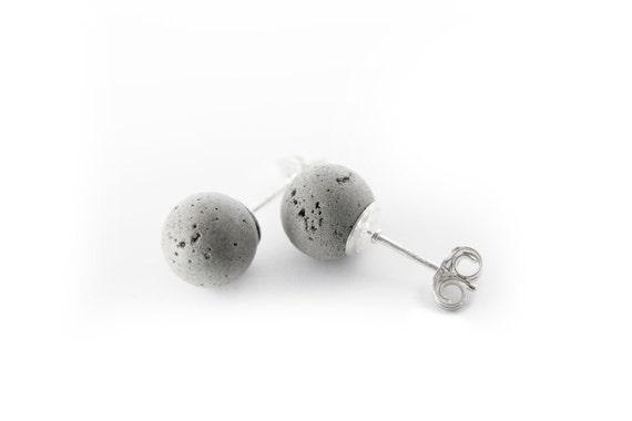 Cement Pearls 5mm Earrings
