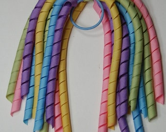 Boutique PASTEL CANDY Korker Streamer Hair Bow Pony-O