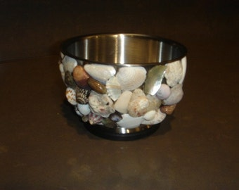 Stainless Steel Bowl with Seashells