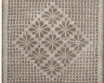 Vintage very old crochet pattern square and border for quilt, afgan, shawl etc pdf email delivery