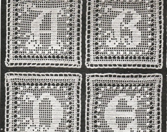 INSTANT DOWNLOAD-Vintage 'alphabet' crochet square pattern- a to z , afgans, throws, etc pdf email delivery