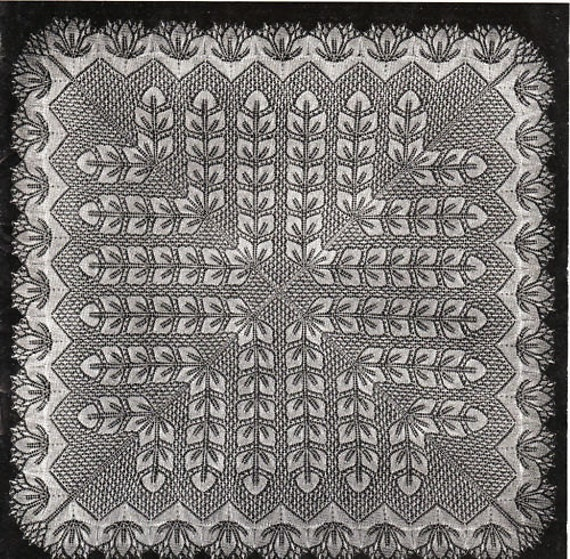 Intricate Crochet Baby Blanket Pattern : INSTANT DOWNLOAD-Vintage knitting pattern for intricate square