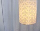 Block Printed Hemp and Organic Cotton Hanging Lamp in Minileaves