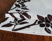 Hemp Linen Block Printed Table Runner in Apple Blossom