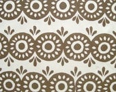 Eyelet in Pewter- Block Printed Fabric Piece 39 x 11 in.