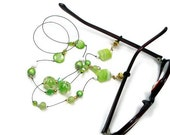 Beaded Glasses Necklace, Reading Glasses Holder, Granny Glasses Chain, Glasses Leash, Lanyard, Lime Green, TJBdesigns