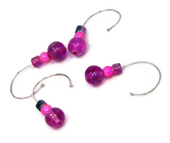 Removable Crochet Stitch Markers Beaded Grape