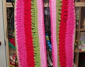 SALE Bright Colors Crocheted Scarf FREE SHIPPING