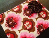 HELP FOR HAITI -- Cherry Tree Zipped Pouch