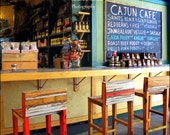 "New Orleans French Quarter Photography French Market ""Cajun Cafe""  11x14 colorful kitchen art original photograph"