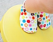 Soft Soled Cloth Baby Shoes - Pink Starry Dots