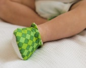 Soft Sole Baby Shoes - Green Argyle - Baby Booties