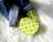 Soft Sole Baby Shoes, Baby Booties - Green Ring