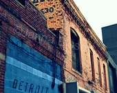Detroit Alley Urban Photograph on Metallic Paper