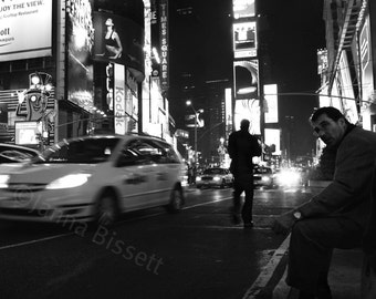 NYC Photography Black and White Times Square