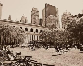 Bryant Park New York Fine Art Photography