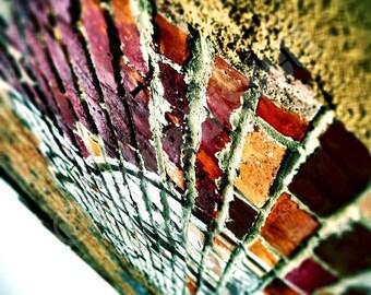 Brick Wall in Corktown Detroit - Fine Art Urban Photograph